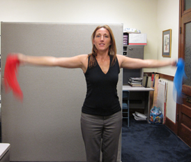 Cardio in a Box for Office Fitness- Arm Circles