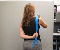 Cardio in a Box Shoulder Stretch Office Exercise